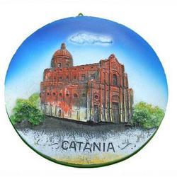 Piatto in resina cm 12 con Duomo di Catania