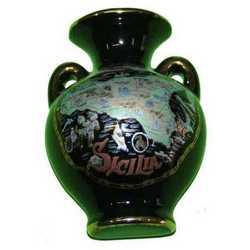 Magnete Vasetto Ceramica Oro Cm 6