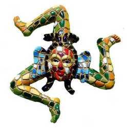 Magnete Mosaico Trinacria Cm 5