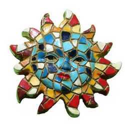Magnete Mosaico Sole Cm 5