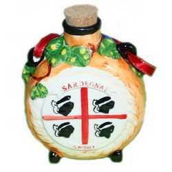 Botte Piccola Ceramica Rilievo Sardegna Cm 12