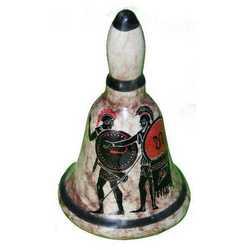 Campana Ceramica Disegni Etruschi Cm 8