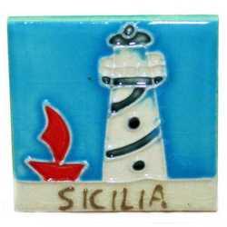 Magnete Ceramica Faro Sicilia Cm 5