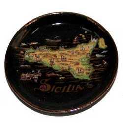 Magnete Ceramica Oro Mappa Cm 5