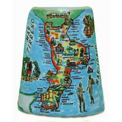 Magnete Mattoncino Ceramica Calabria Cm 5