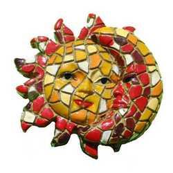 Magnete Mosaico Sole/Luna Cm 5