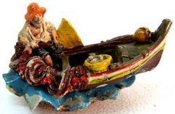 Barca in ceramica cm 12