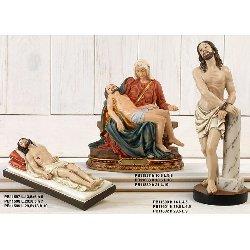 Statua Gesu legato alla colonna cm 29.5 in resina
