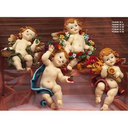 Statue Angeli quattro stagioni da cm 30 da appendere in resina