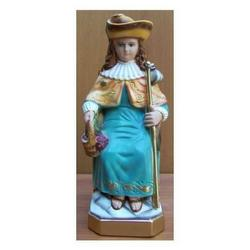 Statua San Nino di Atocha in gesso cm 26