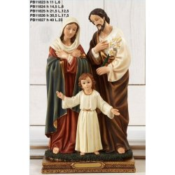 Statua Sacra Famiglia in resina cm 21.5