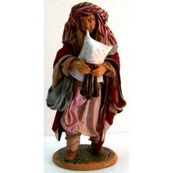 Personaggio per Presepe Zampogniaro cm 22 terracotta e stoffa