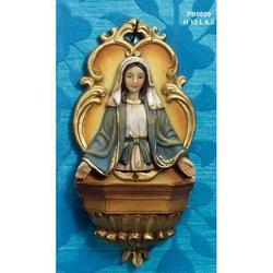 Acquasantiera Madonna Immacolata cm 13 in resina