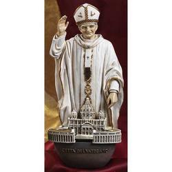 Acqua Santiera Papa Wojtyla - Giovanni Paolo II in resina cm 20