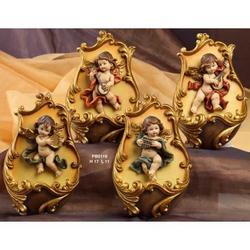 Set da 4 Acquasantiere con Angeli suonatori cm 17x11