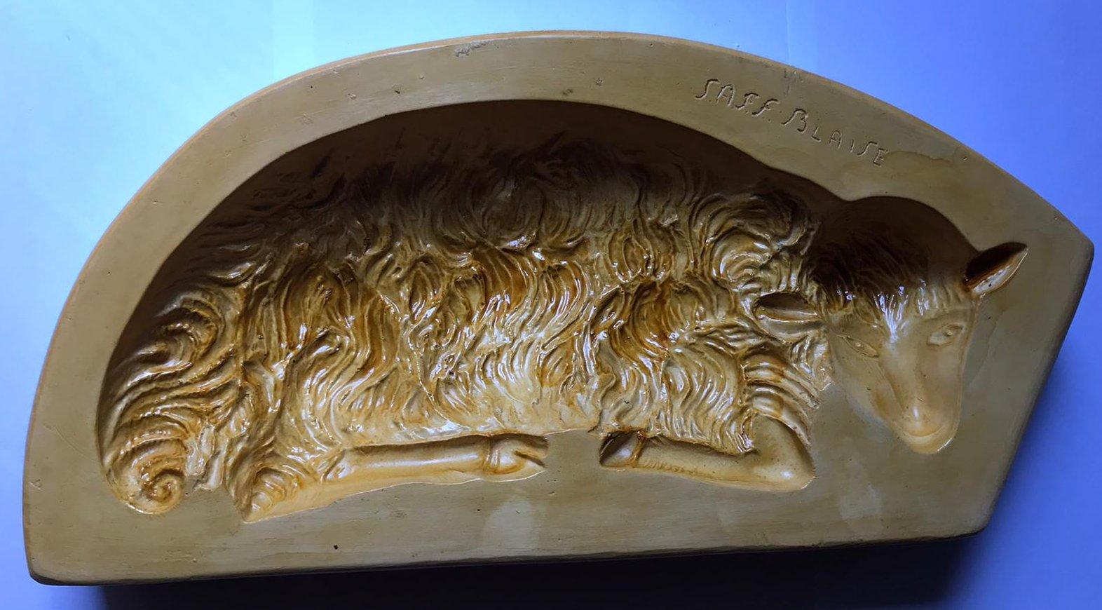 Stampo per Agnello coricato grande da 850 grammi di martorana