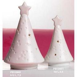 Albero di Natale cm 12 in porcellana con luce
