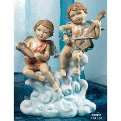 Angioletti sulla Nuvola in Porcellana cm 29