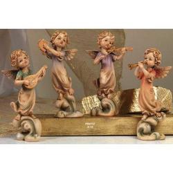 Set 4 Angeli musicanti da cm 19 in resina