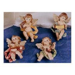 Angeli con strumenti 4 pz assortiti cm 8.5 resina