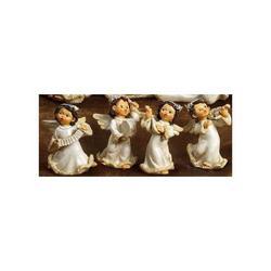 Angeli con strumenti 4 pz assortiti resina cm 7