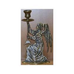Angelo destro porta candela con bicchierino cm 22x13