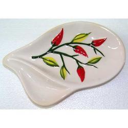 Antipastiera in ceramica decoro Peperoncino cm 20x12