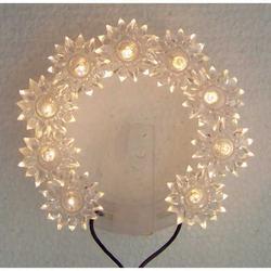 Aureola per statue a 9 lampadine con diametro cm 8