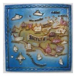 Souvenir Sicilia Quadrato con calamita