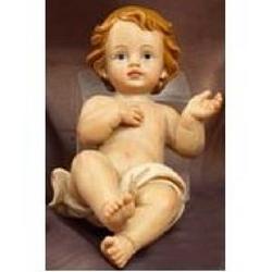 Bambin Gesu in resina cm 11.5