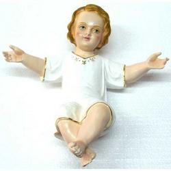 Statua Bambinello Betlemme cm 33 in gesso