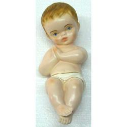 Statua Bambinello Betlemme cm 22 in gesso
