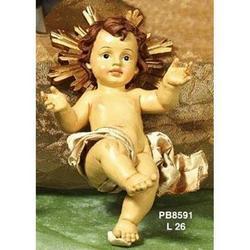 Gesu Bambino in fasce con aureola da cm 26 in resina