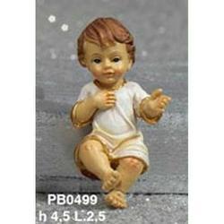 Statua Bambinello vestito cm 4.5 in resina