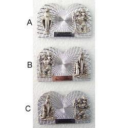 Articolo religioso 2 bassorilievi da cm 5.5x3.5 con magnete