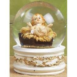 Bambino Gesu su bolla di vetro cm 8.5