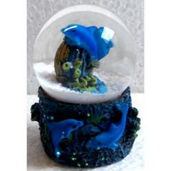 Souvenir Bolla di Neve con delfini cm 5.5x3.3
