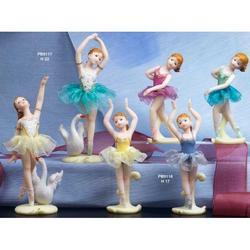 Bomboniere Ballerina cigno cm 22 resina Set da 2 pezzi assortiti