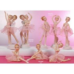 Bomboniere Ballerina in piedi cm 18 in resina Set da 3 pezzi ass