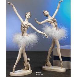 Bomboniere Ballerina in piedi cm 30 resina Set 2 pz assortiti