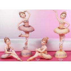Coppia Bomboniere Ballerina seduta cm 9 in resina