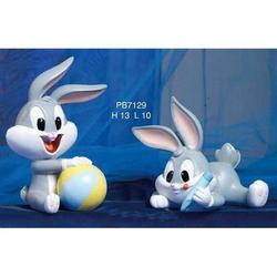 Bomboniere Bugs Bunny Baby in resina cm 13 Set da 2 pezzi ass