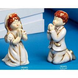 Bomboniere Prima Comunione Bimba cm 10 in porcellana