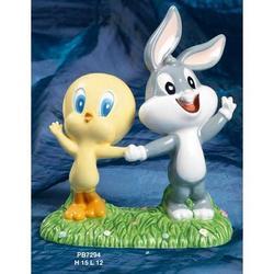 Bomboniere Titti e Bugs Bunny baby cm 15 ceramica