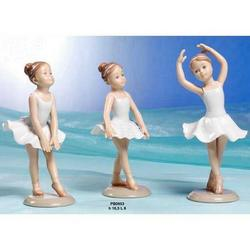 Bomboniere Ballerine porcellana cm 16 Set 3 pz assortiti
