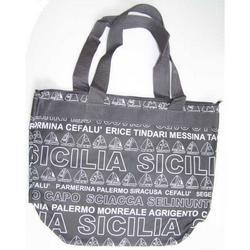Borsa Sicilia in tessuto cm 43x34