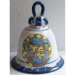Campana Sicilia in ceramica cm 15.5x13x13