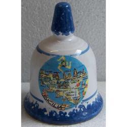 Campana Sicilia in ceramica cm 8x6