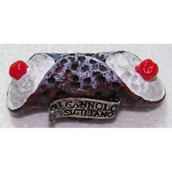 Cannolo Siciliano souvenir magnete resina cm 5.5x2