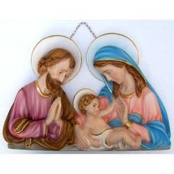 Capezzale Sacra Famiglia cm 40x28 in gesso